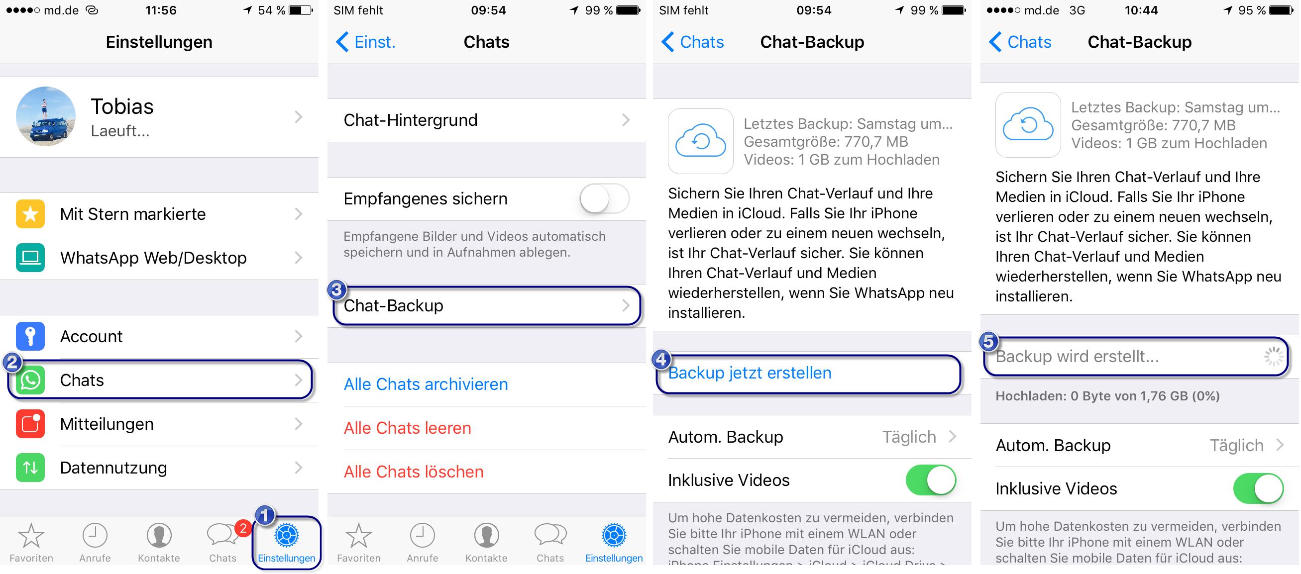 Whatsapp Backup Auf Neues Iphone